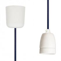 Pendant Lamp Porcelain Steel Blue