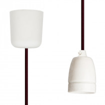 Pendant Lamp Porcelain Wine Red