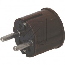 Schuko Plug Brown