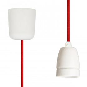 Pendant Lamp Porcelain Red