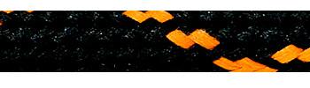Textile Cable Black-Orange