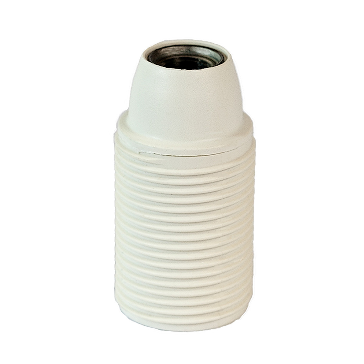 Plastic Lamp Holder E14 With External Thread White