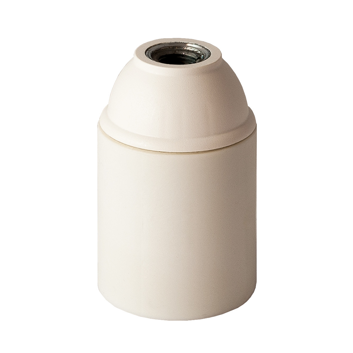 Plastic Lamp Holder E27 Unthreaded White