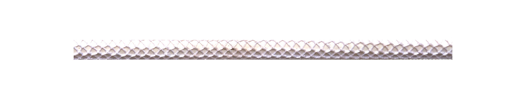 Textile Cable Shiny White Netlike Textile Covering