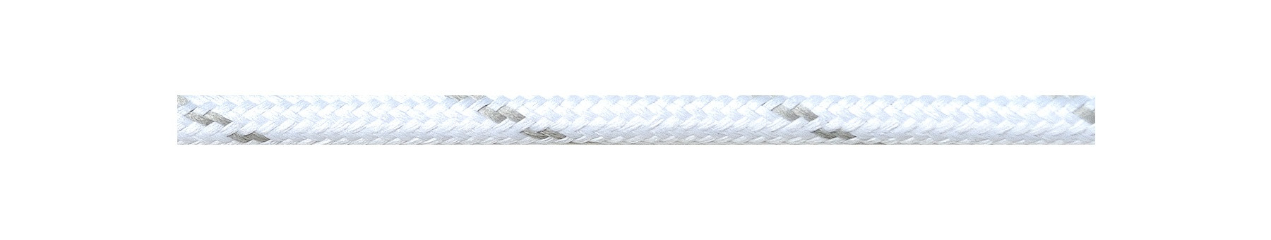 Textile Cable White-Grey Striped