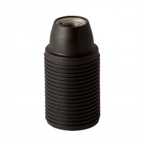 Plastic Lamp Holder E14 With External Thread Black