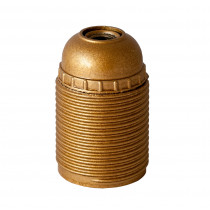 Plastic Lamp Holder E27 With External Thread Gold
