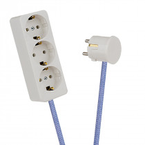 White 3-Way Socket Outlet Lilac