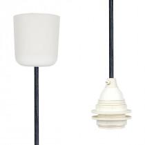 Pendant Lamp Plastic Black Netlike