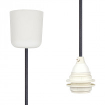 Pendant Lamp Plastic Dark Grey