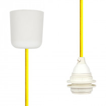 Pendant Lamp Plastic Empire Yellow