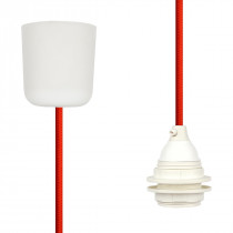 Pendant Lamp Plastic Rust Red