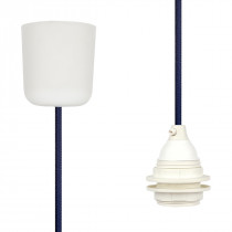 Pendant Lamp Plastic Steel Blue