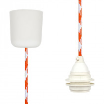 Pendant Lamp Plastic White Orange