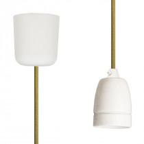 Pendant Lamp Porcelain Olive Green