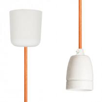 Pendant Lamp Porcelain Orange Netlike