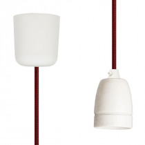 Pendant Lamp Porcelain Red Netlike
