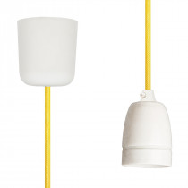 Pendant Lamp Porcelain Yellow Netlike