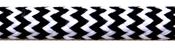 Textile Cable Black-White Zig Zag