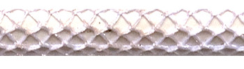 Textile Cable Shiny White Netlike Textile Covering