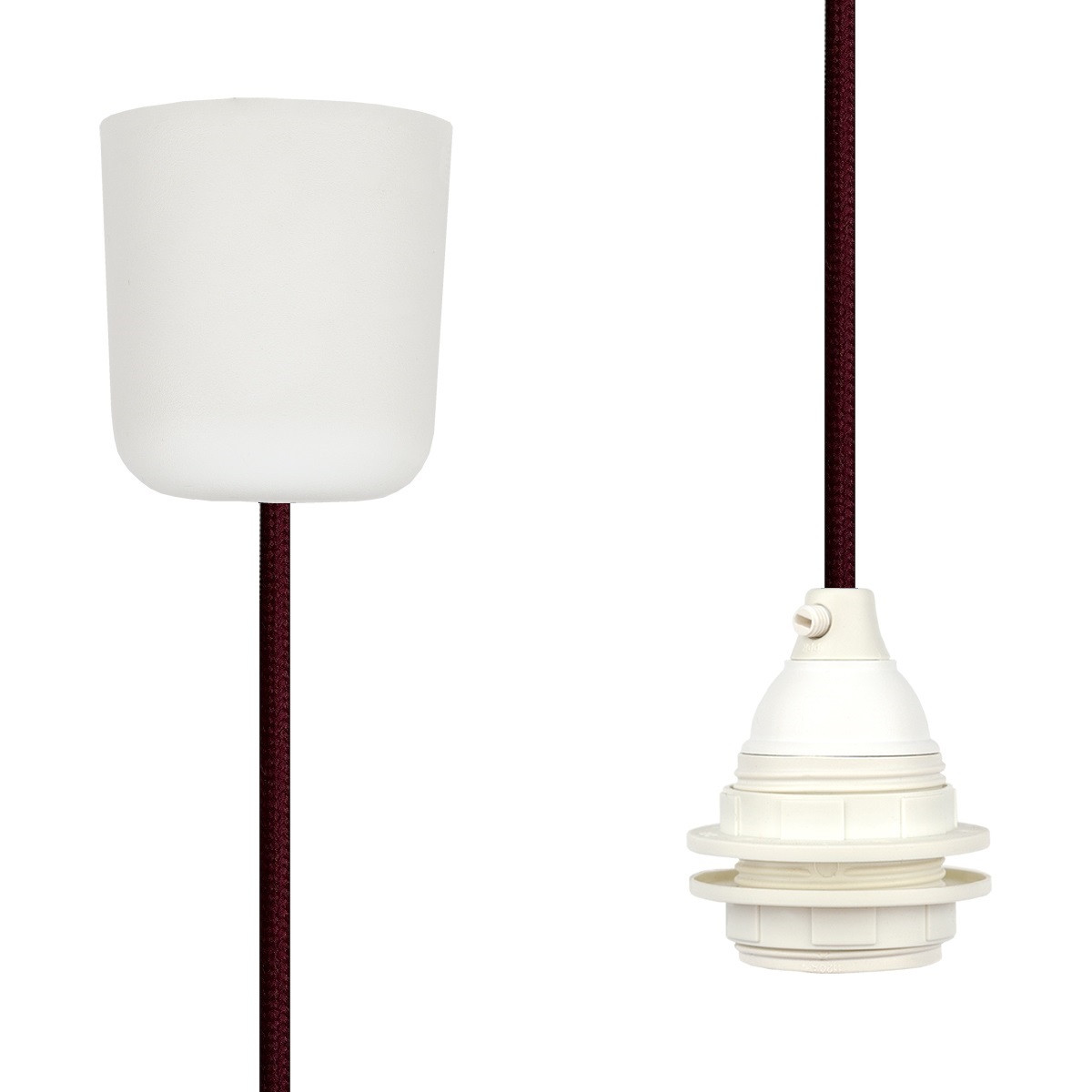 Pendant Lamp Plastic Wine Red