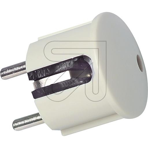 Schuko Plug Cream-White