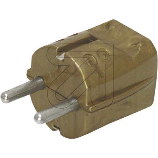 Schuko Plug Gold