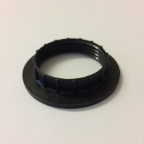 Plastic Shade Ring E27 Black