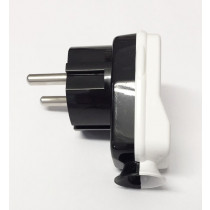 Schuko Plug Black/White