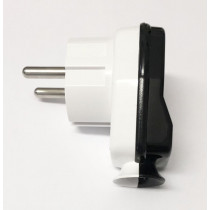 Schuko Plug White/Black