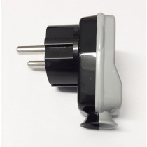 Schuko Plug Black/Grey
