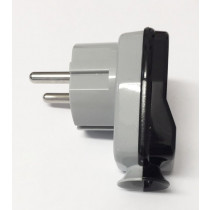 Schuko Plug Grey/Black