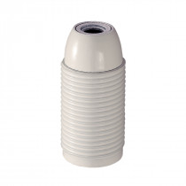 Plastic Lamp Holder E14 With External Thread White Glossy