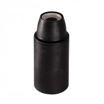 Plastic Lamp Holder E14 Unthreaded Black