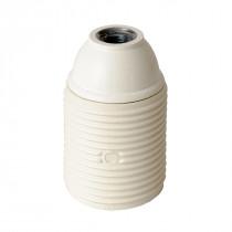 Plastic Lamp Holder E27 With External Thread White