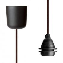 Pendant Lamp Plastic Brown