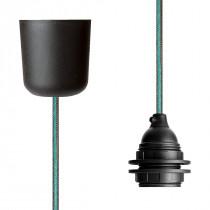 Pendant Lamp Plastic Brown-Turquoise Netlike