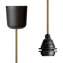 Pendant Lamp Plastic Gold Netlike