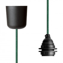 Pendant Lamp Plastic Green Netlike