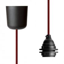 Pendant Lamp Plastic Red Netlike