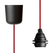 Pendant Lamp Plastic Red-White Spots