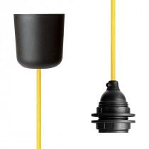 Pendant Lamp Plastic Yellow Netlike
