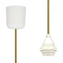 Pendant Lamp Plastic Olive Green
