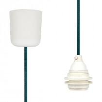 Pendant Lamp Plastic Turquoise-Black Netlike