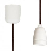Pendant Lamp Porcelain Brown