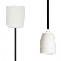 Pendant Lamp Porcelain Dark Brown