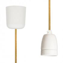 Pendant Lamp Porcelain Gold Netlike