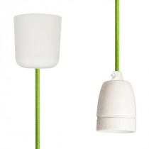 Pendant Lamp Porcelain Light Green