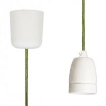 Pendant Lamp Porcelain Neon Green Netlike