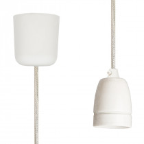 Pendant Lamp Porcelain Off White Netlike